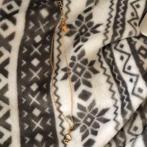 Gold Kate Spade Open Spade Necklace
